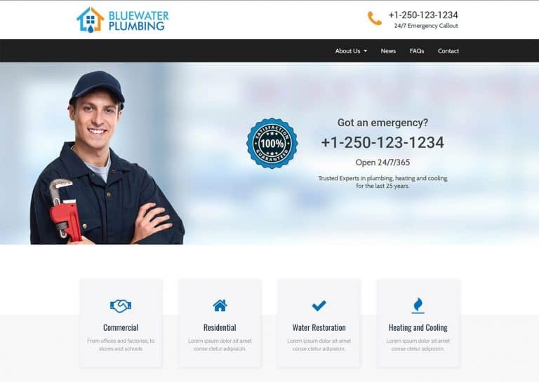 Plumber home page