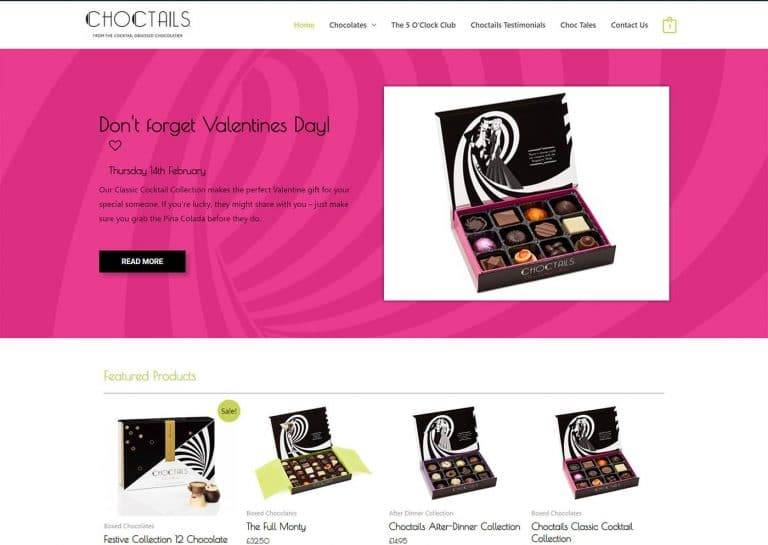 Choctails home page